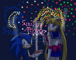 Sonic and Sailor Moon: Independence Day by SailorMoonAndSonicX
