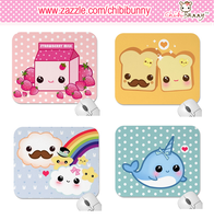 Kawaii mousepads by tho-be