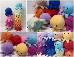 Rainbow Baby Octopi by Jonisey