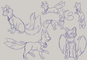 KrosFox Team 8 Sketch by SnowKuki