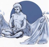 archangel meditating by MoonLightRose17
