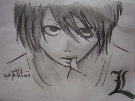 L Lawliet by bloodred06