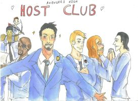 Avengers High Host Club by CorrosiveChaos