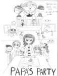 Papa's Party Fanfiction - Cover by flowersun123