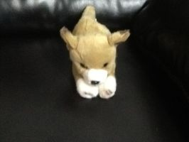 Stuffed animal toy puppy by wolf-of-happiness