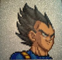 Dragon Ball Z Vegeta Perler Bead Sprite Portrait by Amber--Lynn