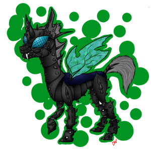 A weird take on a changeling idk by DwaginIs3Rr0r418