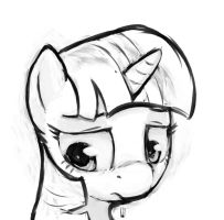 Twilight Sparkle sketch by Inkwel-MLP
