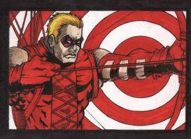 Red Arrow sketch card by chris-foreman