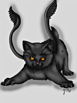 #006 Lil Monster Displacer Kitten by Tamaj11