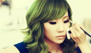 CL - Green hair edit by kpopcolor