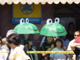 Froggy Umbrellas by 7kitty13