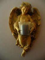 Angel Statue Stock by saturn-rings