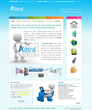 Ashtral Media - Website by leviiathan