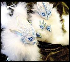 -SOLD-Posable Baby Ice Dragons by Wood-Splitter-Lee