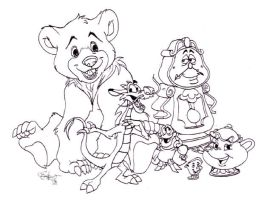 Black and White Disney piccie by ElectricDawgy