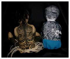 My Two Dolls - Backs by bataleigh