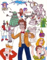 Futurama and Eleventh Doctor by iamtherealbender