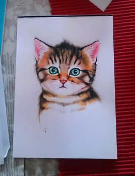Watercolour kitty by EmiliaPaw5