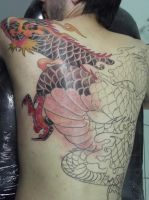 in progress dragon... by Juliano-Pereira