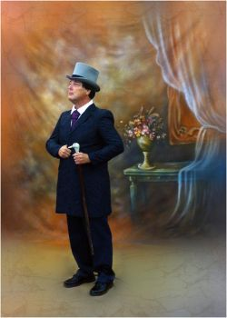 Peter Gibbons, striking a Victorian pose by Photo-Joker