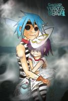 Gorillaz-Plastic Beach by Ashtart10