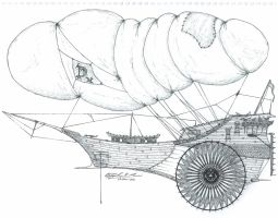 Merchant Balloon Ship by DJBIG
