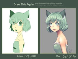 Draw This Again: Green Kitty by Anarkeru