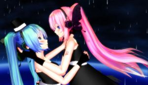 another miuk x luka magnet tda wallpaper ? XD by HaruhichanxD