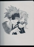 Lavi and Allen by LileoDark
