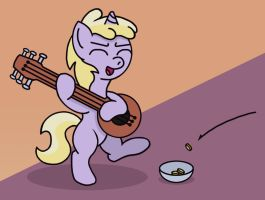 Dinky the Bard by GoggleSparks