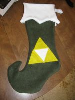 Zelda Triforce Stocking by 1WaterMonkey