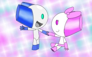 Robotboy and Robotgirl by VictoriaLolo
