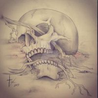 Skulldrawing by bishop808