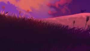 Sunset fields by Konnestra