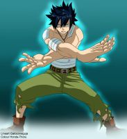Fairy tail gray fullbuster dark ice -colour-. by Honda-Thoru