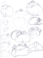 Page o' Uberfat Doodles by gitbigger