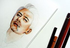 Robert Downey JR WIP by Farbenfrei