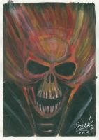 Ghost rider acrylic painting tryout by oluklu