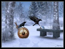 Hugin and Munin by Geosammy