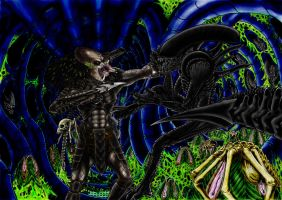 alien vs predator [scream 4 me] by campfens