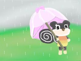 Blaire in the Rain by Static-Zap