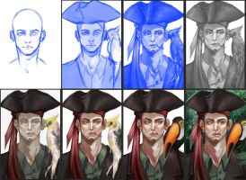 Pirate step by step by KatZina