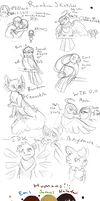 Random Sketches that I'll Never Finish... by MangoPearls