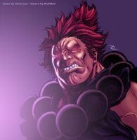Alvin Lee's Akuma in my colors by RodWolf