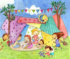 Sheets tent by Maria-Garcia