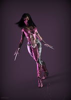 Mileena MK X portrait render by ArRoW-4-U