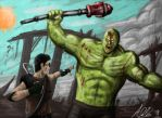 Fallout 3 - Supermutant attack by Torvald2000