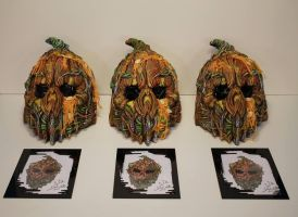 2013 Mushroomhead Pumpkin masks by JPattonFX