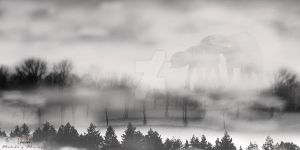 AT-AT's in the Mist by MalakisMarvels